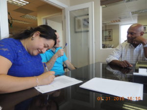 Signing the Miami-Home-Loan docs for an Element-Funding Closing